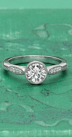 18K White Gold Lyra Diamond Ring brilliant earth, diamond rings, yellow diamonds, 18k white, ring designs, promise rings, bling bling, engagement rings, lyra engagement ring
