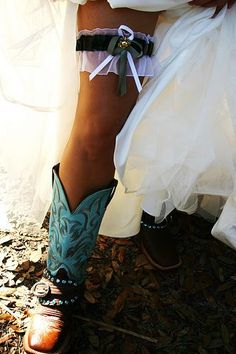 Cowgirl boots and western garter.