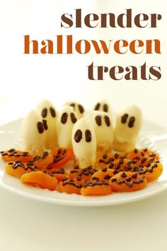 Slender Boo-nana ghosts + Chocolate Apricot Jack-O-Lanterns | The Slender Student