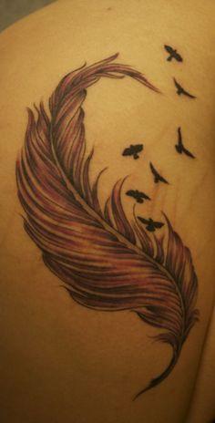 #tattoos #feather #birds