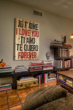 'I Love You' Wood Wall Art.