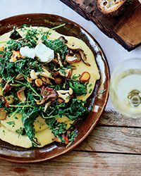 Soft Polenta with Mixed Mushrooms and Gremolata Recipe