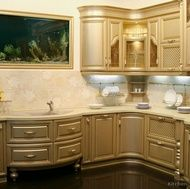 Traditional Gold Kitchen