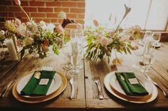green table napkins