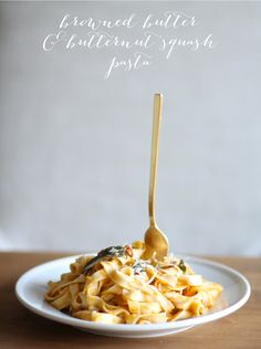 Browned Butter Butternut Squash Pasta