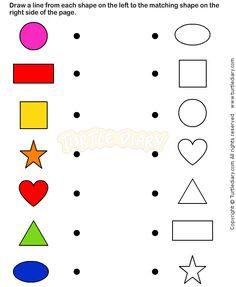 Shapes8 - math Worksheets - preschool Worksheets More