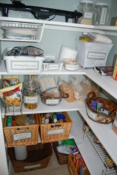 Remodelaholic | Newly Painted And Reorganized Pantry