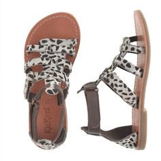 From Most Wanted: Small Wonders: The Best New Designer Clothes For Kids  J. Crew Girls' Kickers gladiator sandals, $78