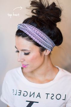 Messy bun with headband