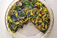 Mushroom, Spinach, and Sausage Crustless Quiche (Gluten Free and Dairy Free)