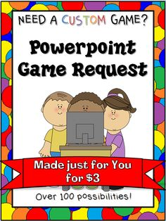 Need a game just for your class? I will create a game that fits you and your classes' personal needs.You choose everything from the game type to the color scheme to the patterns to the questions themselves!   I email you updates as I create each part until the entire product is complete. It cane takes anywhere from 1 to days, depending on the details.