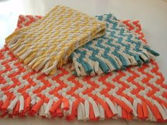 Chevron braided rug made from Organic cotton.