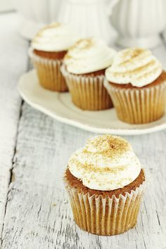 Pumpkin Cupcakes with Maple Cream Cheese Frosting (Grain & Refined Sugar Free) - Ancestral Nutrition