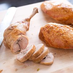 Julia Child broke apart turkeys in pursuit of quick and even cooking, effortless carving—and stuffing that tastes of the bird. We put our own spin on her approach with our recipe: Julia Child's Stuffed Turkey, Updated.