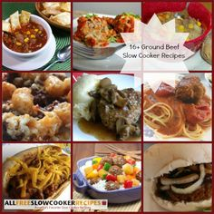 Learn how to make easy ground beef recipes using your slow cooker with this collection of 16 Ground Beef Slow Cooker Recipes. This tasty collection includes ground beef casserole recipes, ground beef soup recipes, meatloaf recipes and more.