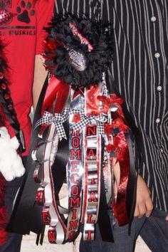 Red & Black Homecoming garter