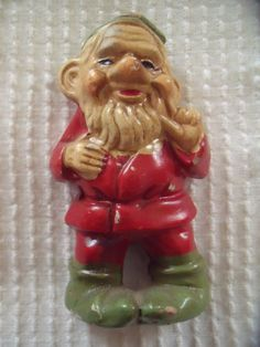 Vintage Elf Pixie Gnome Dwarf Paper Mache Composition Doll Statue | eBay