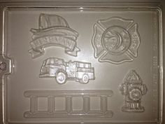 J83  Chocolate Novelty Mold  Firefighter by LorisCandyStation, $2.50