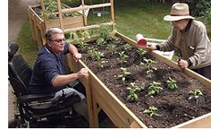 Accessible gardening for individuals with disabilities.