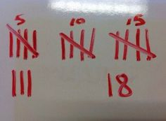 First Graders show different ways to represent numbers