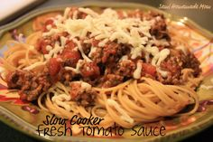 Semi Homemade Mom: Slow Cooker Fresh Tomato Sauce - Crazy Cooking Challenge