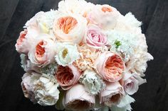 blush pink and ivory bouquet