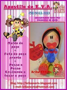 Moldes de fofucha toy baby Blancanieves de Krika