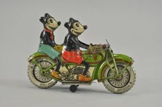 Tippco Mickey and Minnie Mouse Motorcycle Sold By Bertlia Auctions for fifty-six thousand dollars