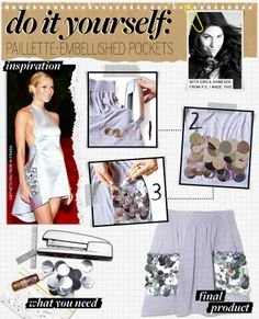 Do It Yourself: Paillette-Embellished Pockets - Celebrity Style and Fashion from WhoWhatWear