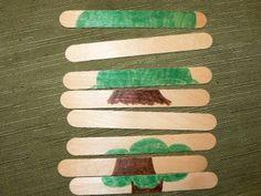 wooden stick puzzle - sweet preschool idea