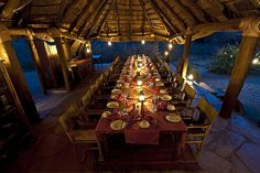 fine dining at the campgrounds in Africa