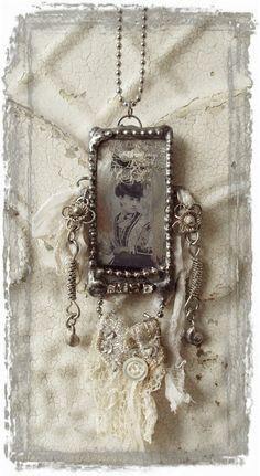 Boho Lady Soldered Glass Necklace