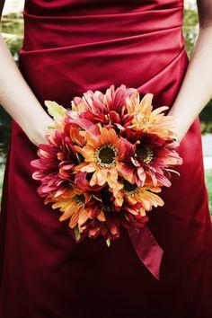 autumn flowers, bridesmaid flowers, dress, fall wedding colors, bridesmaid bouquets, wedding color palettes