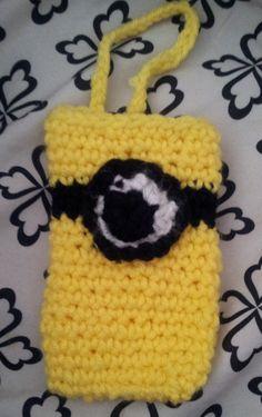 Despicable Me Minion cozy case for iPhone 4 by LeannesKillerCrafts, $5.00