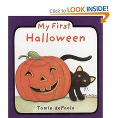 This is our favourite halloween book! We bought it a few years ago and my now 3-year old and 5-year old still love the simple illustrations and board format. Very cute introduction to the Halloween vocabulary and symbols!