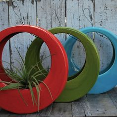 hang circl, circl pot, design inspir, modern outdoor planters, outdoor design