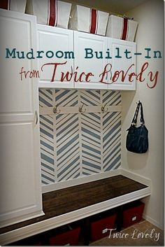 Awesome Mudroom Built-In from Twice Lovely