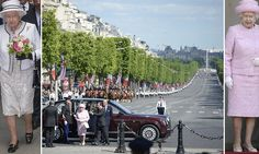 The Queen is greeted by Francois Hollande as she arrives in Paris #DailyMail