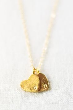 Little golden hearts personalized with the letters that mean most.