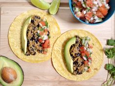 Quinoa Black Bean Tacos.....just made these for dinner...so good!