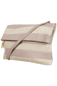 stripe folded clutch from topshop