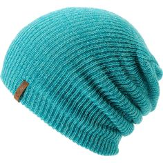 Empyre Girl Piper Turquoise Speckle Beanie ($17) ❤ liked on Polyvore