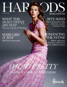 Alina Baikova for Harrods Magazine February 2014