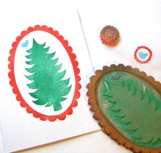 DIY Christmas Cards stamp set