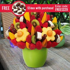 Edible Arrangements® fruit baskets - Mango Kiwi Blossom® Dipped Bananas