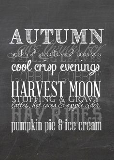 Fall Vignette and Free Fall Printables