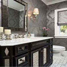 Unique wallpaper for your bathroom for a whole new look