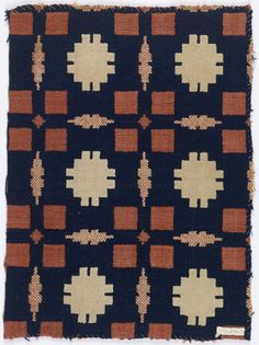 Coverlet Fragment, early 19th century Medium: wool, cotton Technique: double cloth. 1953-114-3.