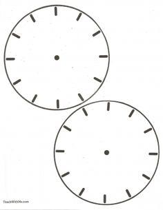 Blank Clock...So helpful when teaching time:)