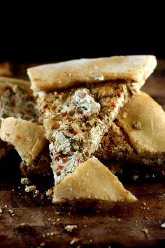 Spicy, Garlic, Herb Goat Cheese Turkish Flatbread (Pide)